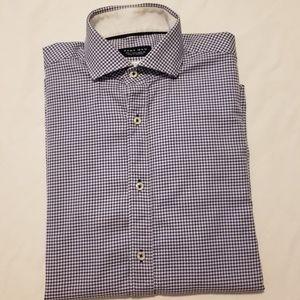 Zara Man Slim Fit Wide Collar Dress Shirt